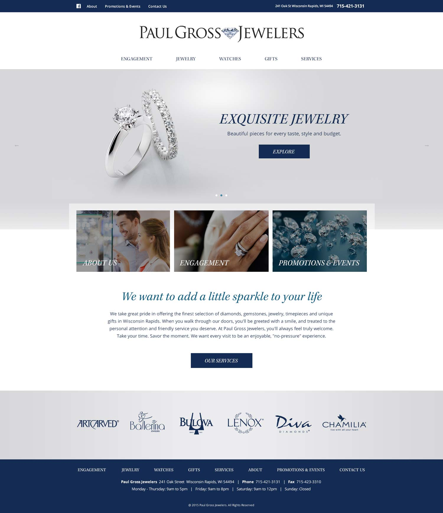 Paul Gross Jewelers - Web Design